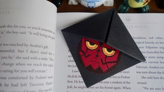 Make a Darth Maul Bookmark for a Spooky Halloween and Star Wars Reads Craft