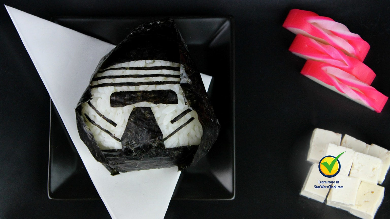 This Kylo Ren Vegetable Onigiri is a Healthy Dark Side Treat