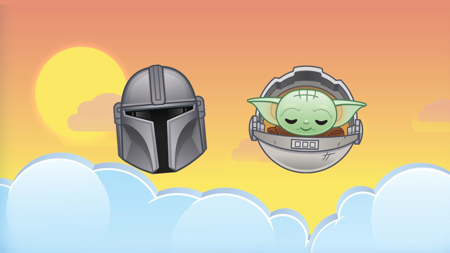 The Mandalorian and the Child Coming to Disney Emoji Blitz