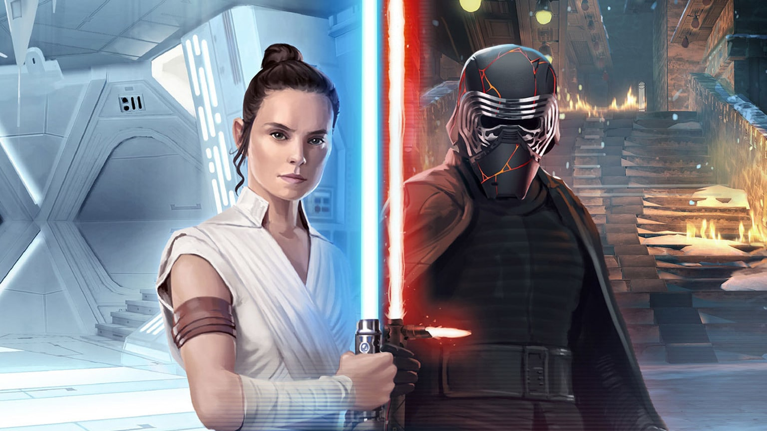 Rey and Kylo Ren Head to Star Wars: Galaxy of Heroes