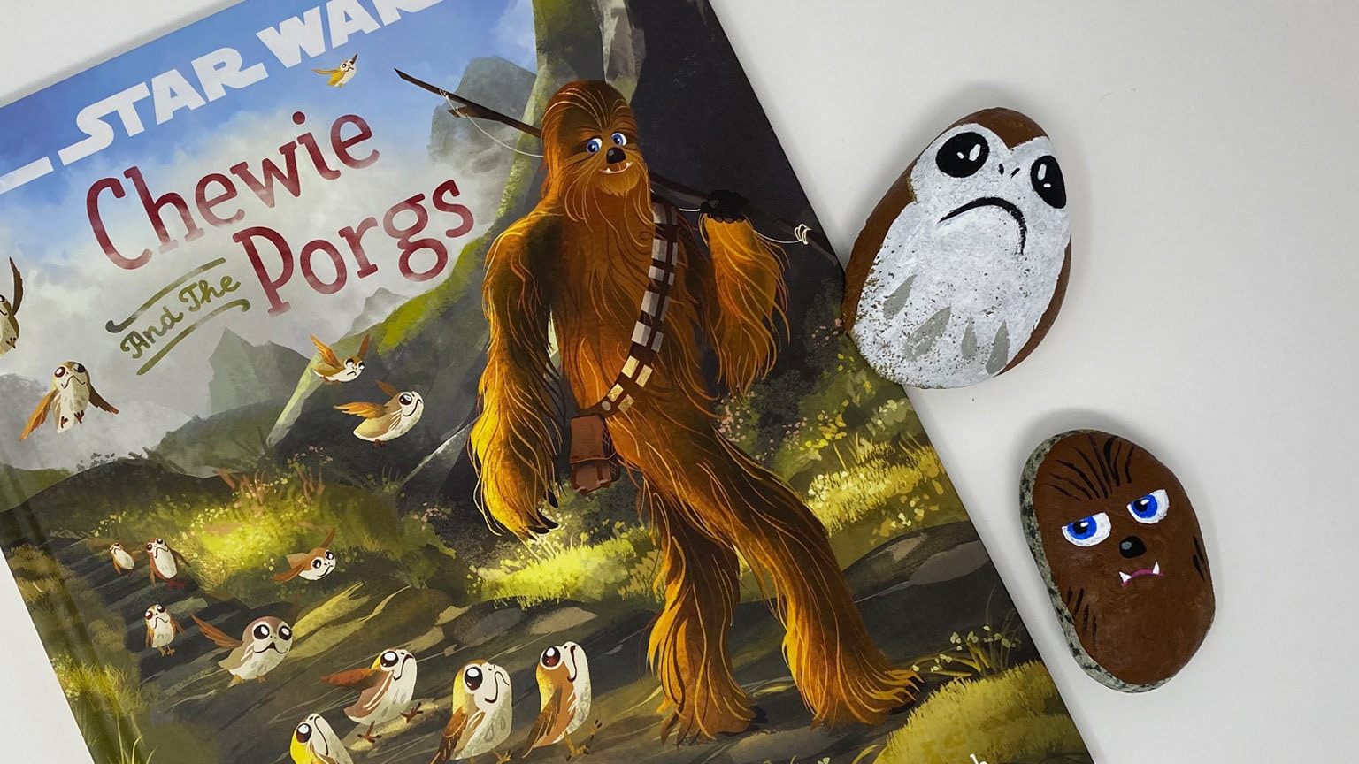 Spend a Day with Chewie and the Porgs with This Read-Along and Rock-Painting DIY