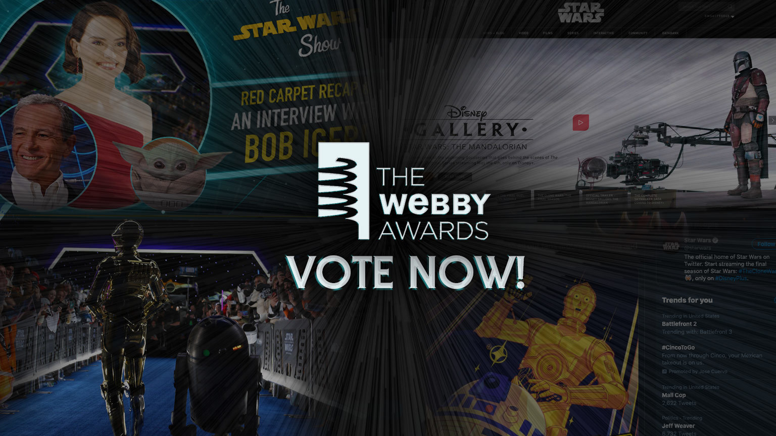 Vote for Star Wars in the 2020 Webby Awards!