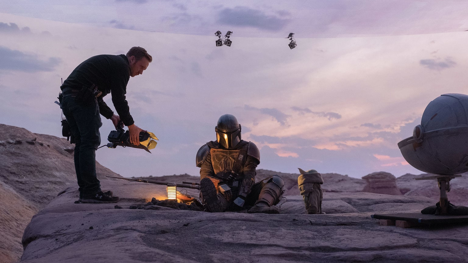 The Mandalorian behind the scenes