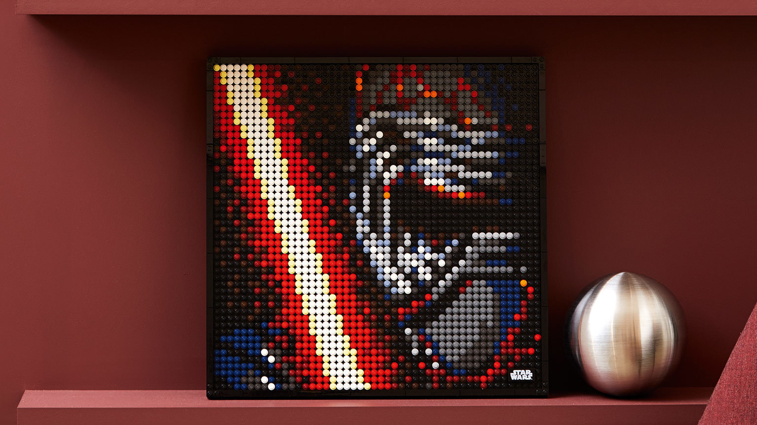 New LEGO Art Turns to the Dark Side