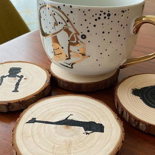 Bring Endor Indoors with These DIY Wood Coasters