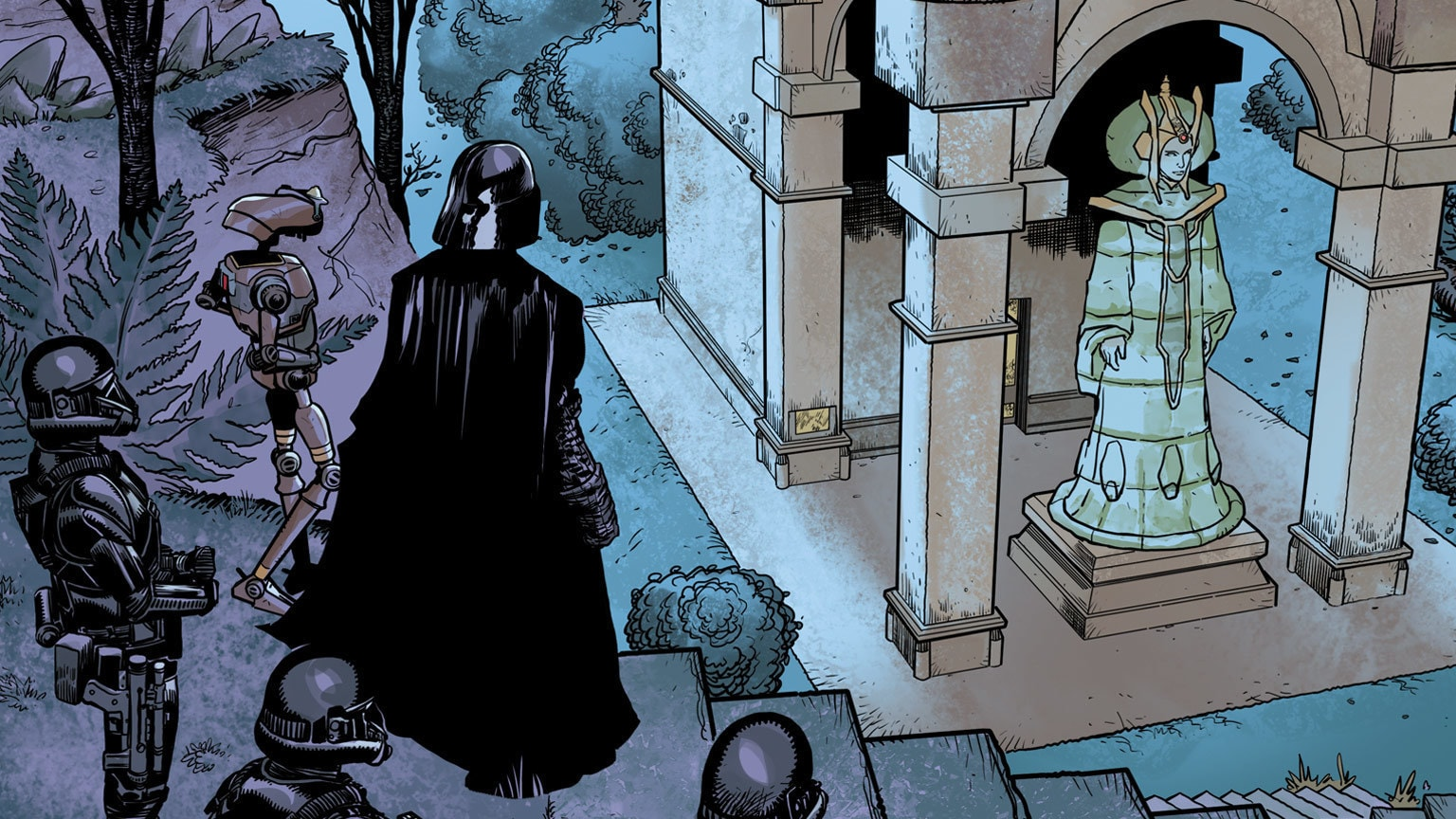 The Sith Lord's Quest Leads to Padmé's Tomb in Darth Vader #4 – Exclusive
