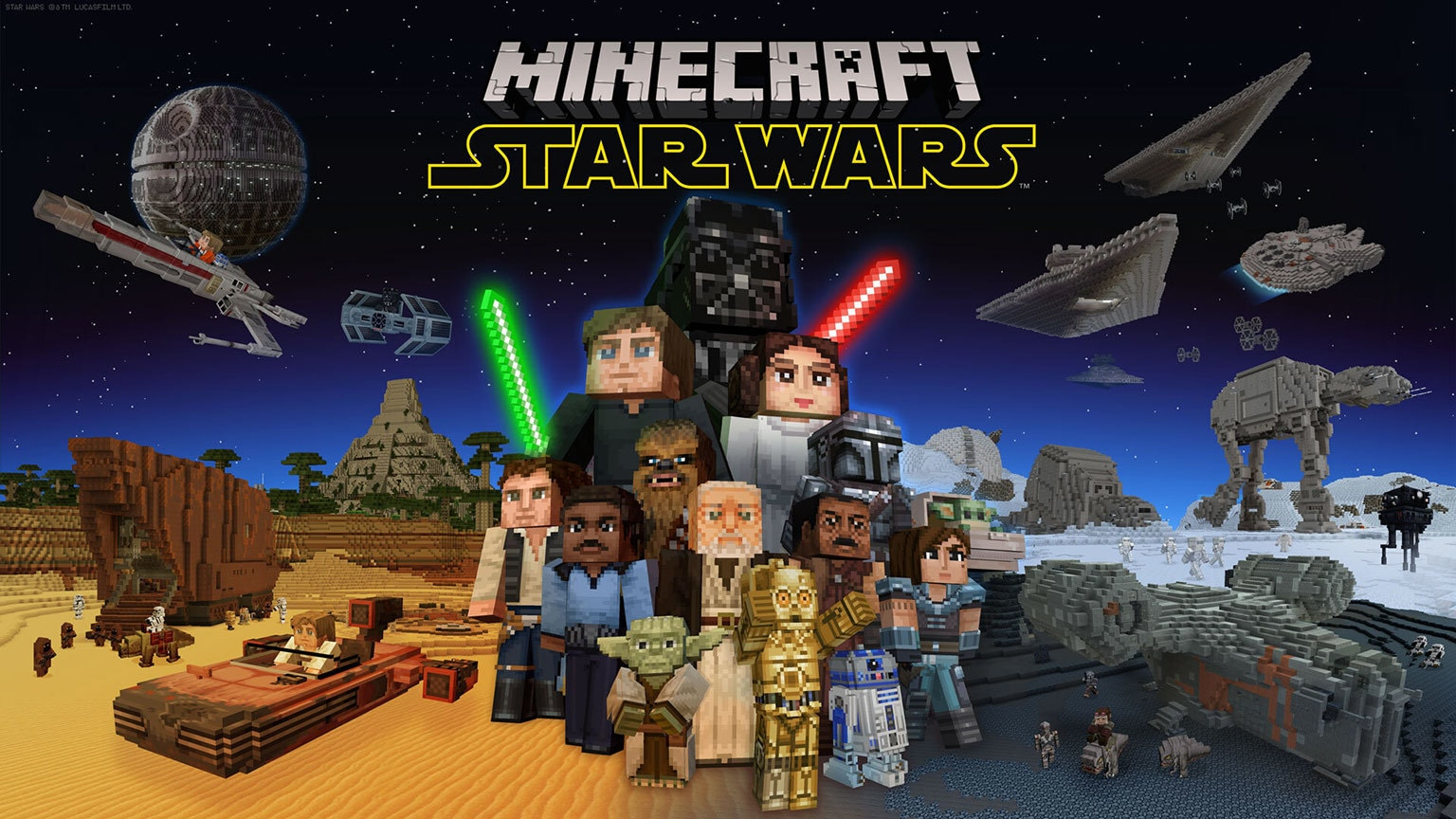 The Minecraft Star Wars DLC is the Way