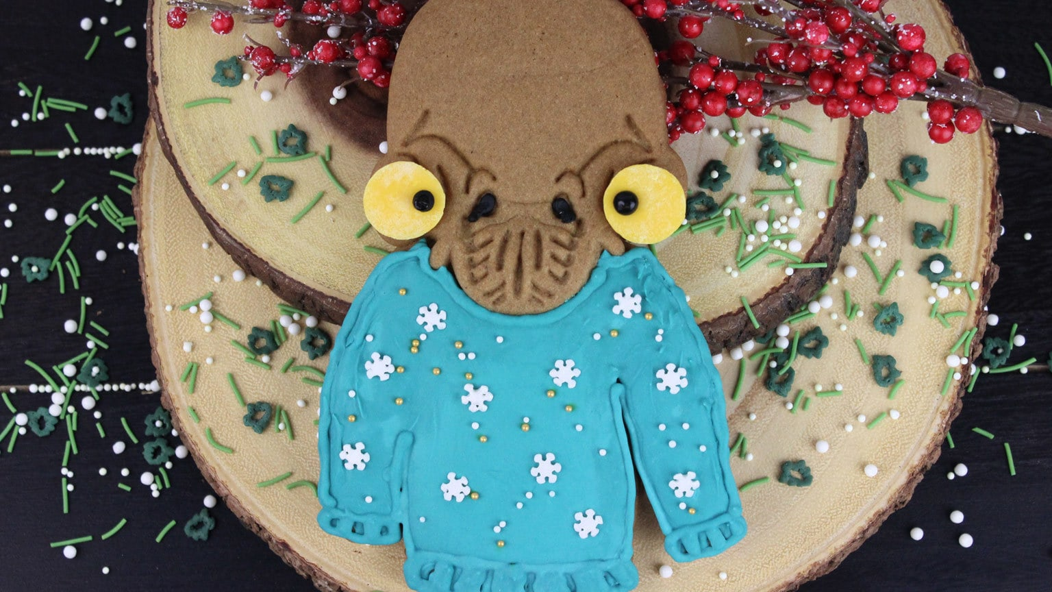 Fix Yourself Some Mon Calamari Holiday Sweater Cookies