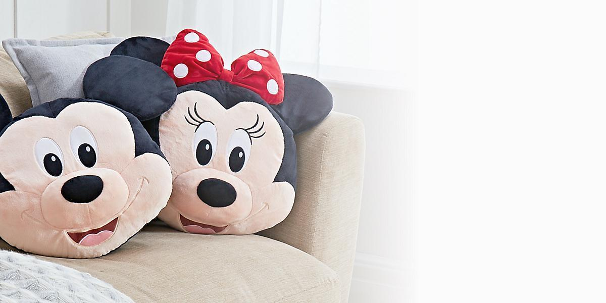 A selection of Mickey and Minnie inspired cushions from shopDisney