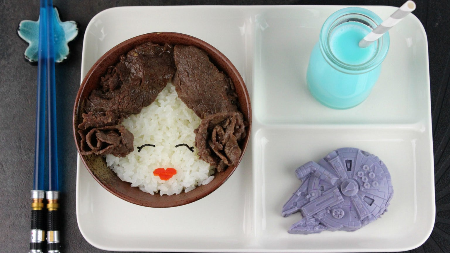 Make a Princess Leia Rice Bowl for Your Next Star Wars: A New Hope Rewatch!
