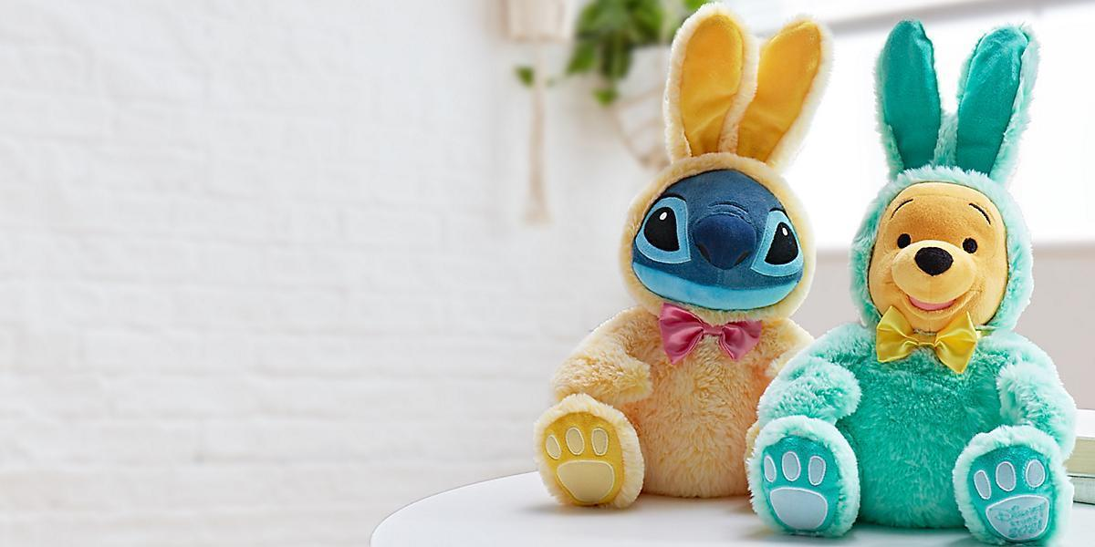 A selection of Easter soft toys from shopDisney
