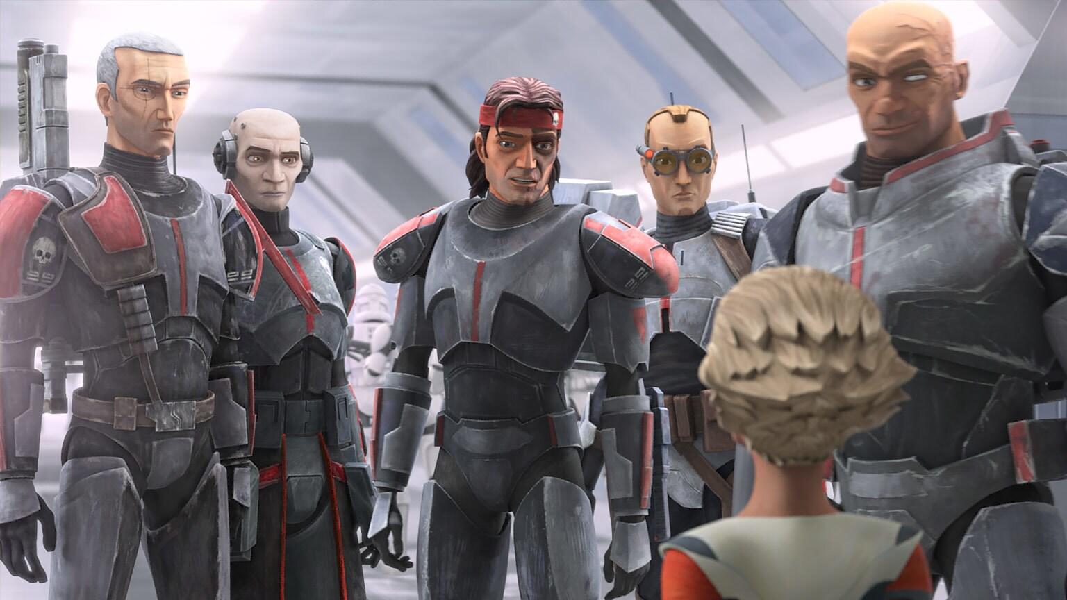 Desenho digital de personagens da série The Bad Batch
