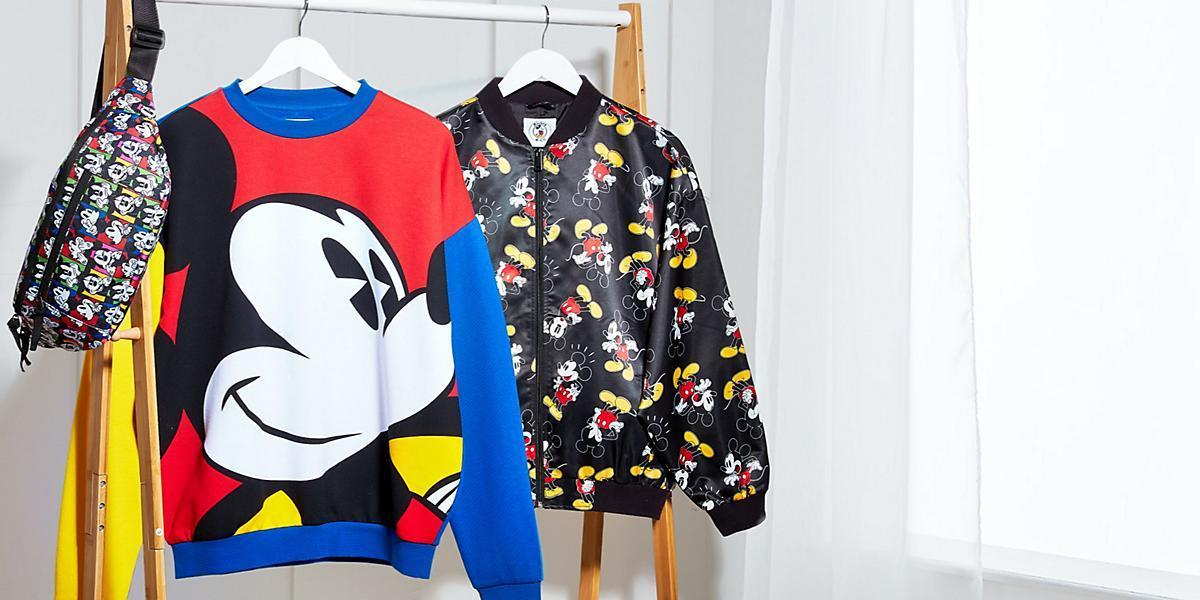 A selection of Disney clothing from shopDisney