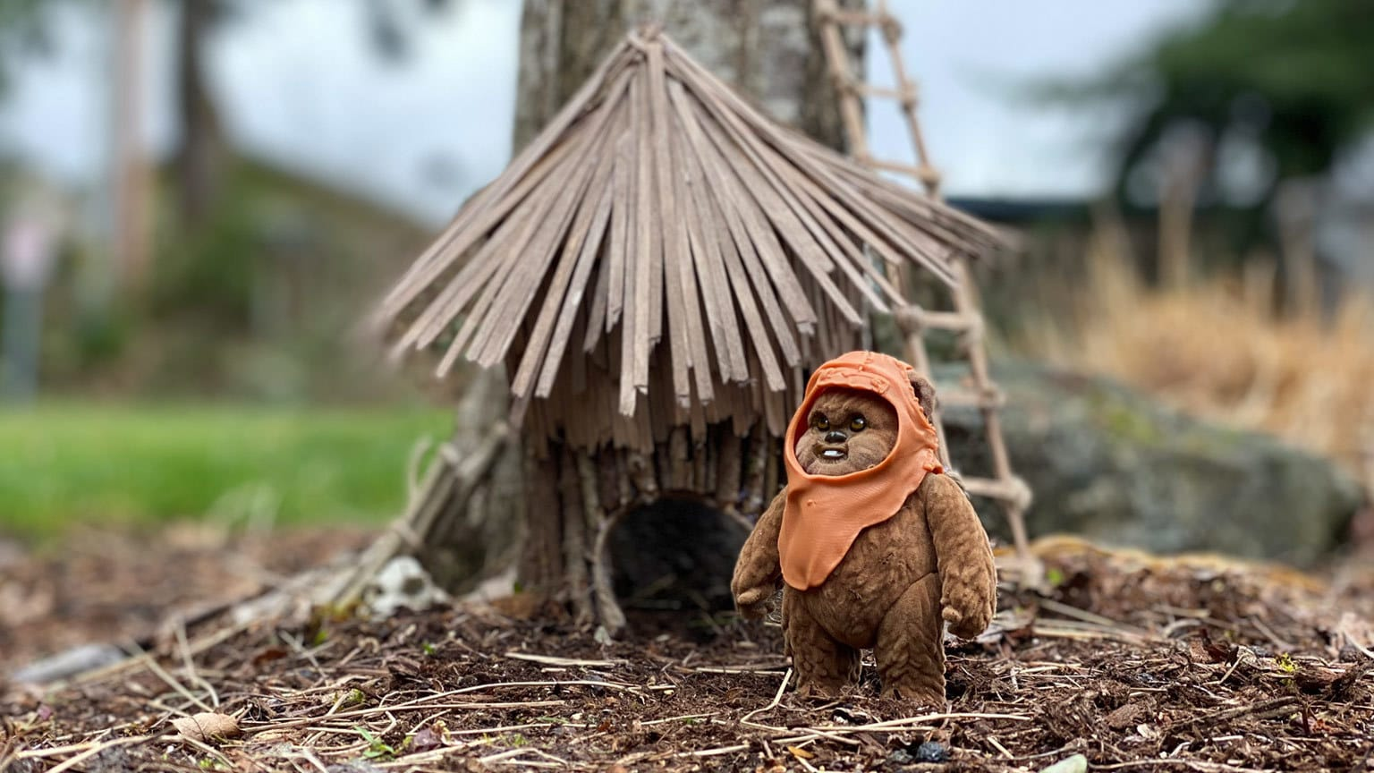 """Reuse, Recycle, and Return (of the Jedi): Make an Upcycled Ewok """"Fairy"""" House"""