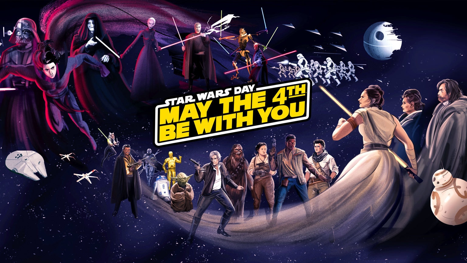 Disney+ to Celebrate Star Wars Day with Fan Art Takeover