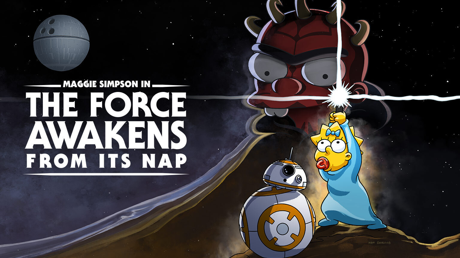 """The Force Awakens From Its Nap"": Behind-the-Scenes of the Surprise Star Wars Day Simpsons Short"