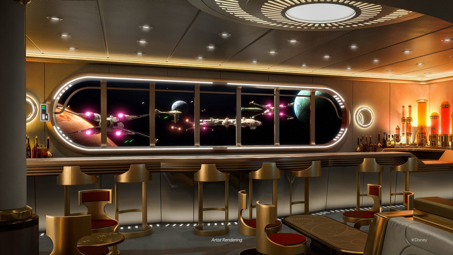Here Are Over 40 Starships You'll Encounter at Disney Cruise Line's Star Wars: Hyperspace Lounge – Exclusive