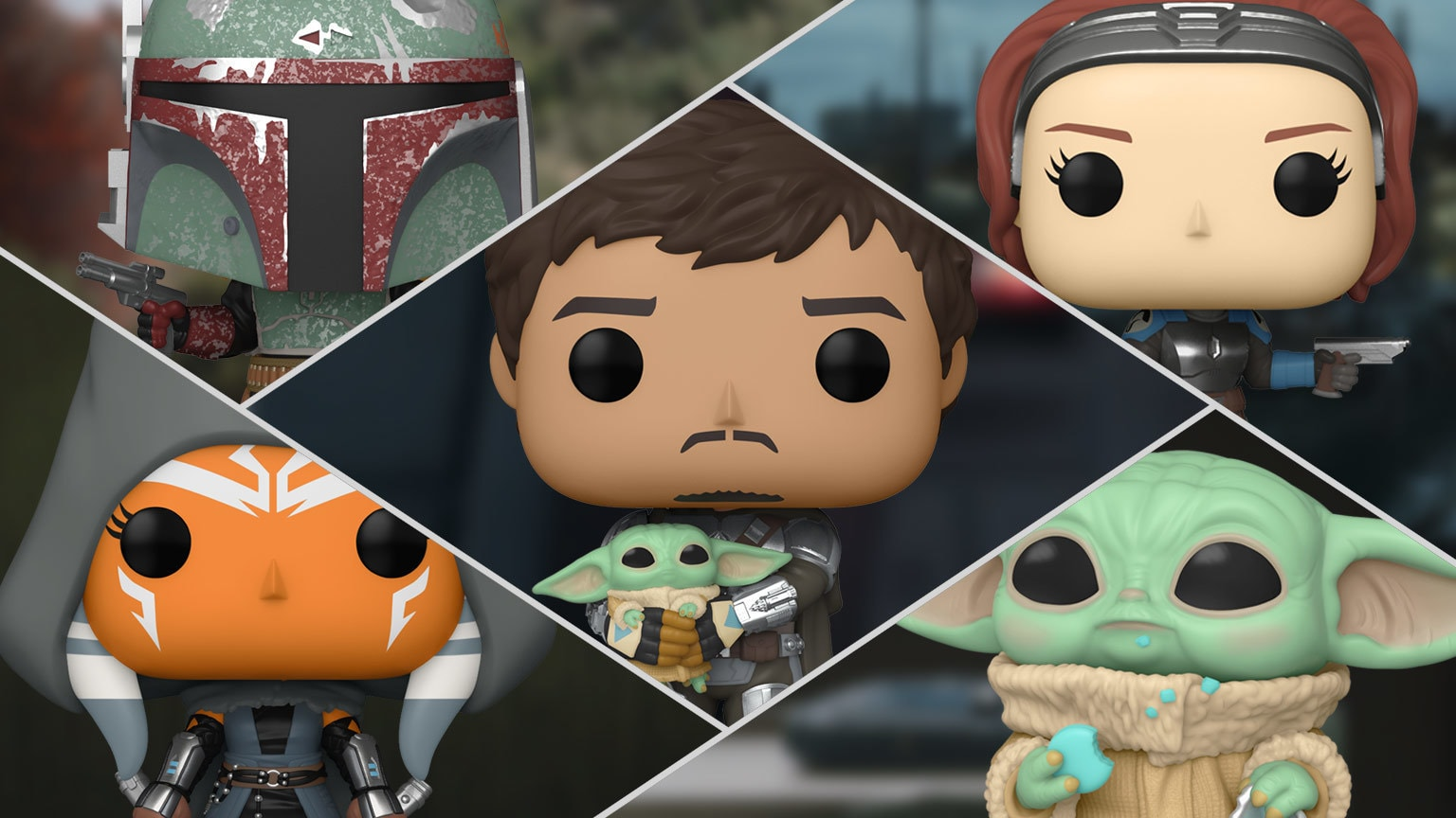 Mando Shows his Face in Funko's New The Mandalorian Pop! Bobbleheads – Exclusive Reveal