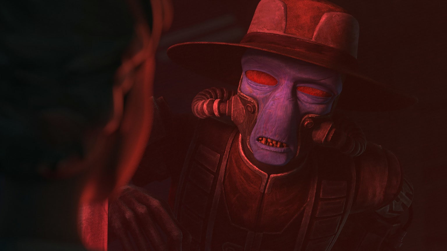 Cad Bane talking with Omega