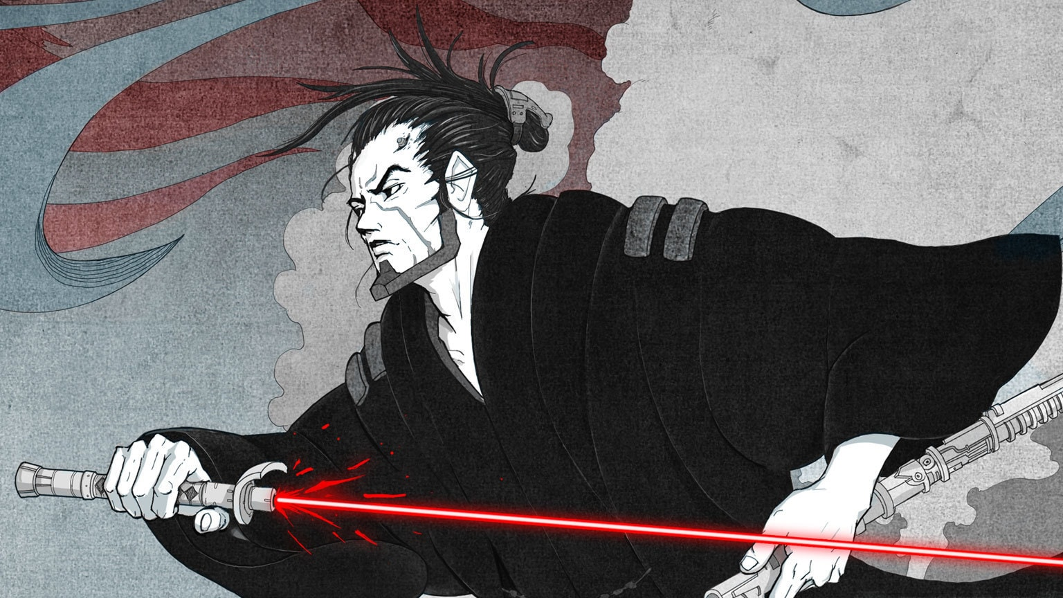 A Mysterious Former Sith Wanders the Galaxy in Ronin, the Upcoming Star Wars: Visions Novel – Exclusive Reveal