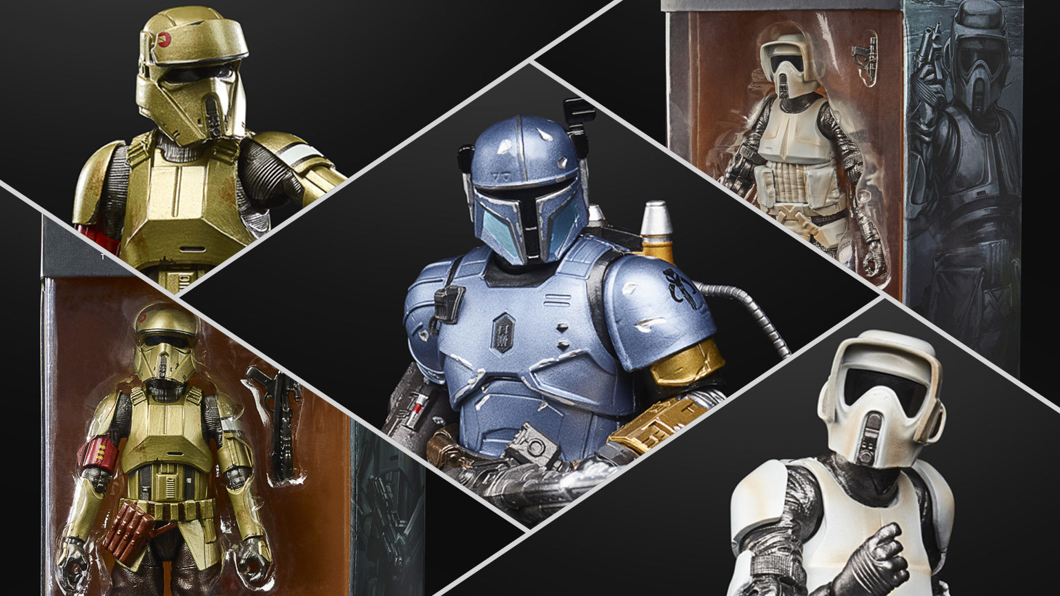 Hasbro Reveals New Carbonized Black Series Figures Inspired By The Mandalorian