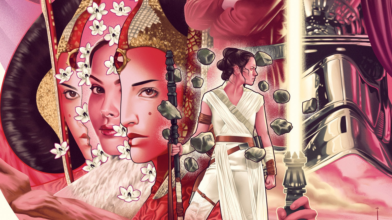 Artist Jack Hughes Celebrates LGBTQ+ History Month with the Women of the Star Wars Galaxy