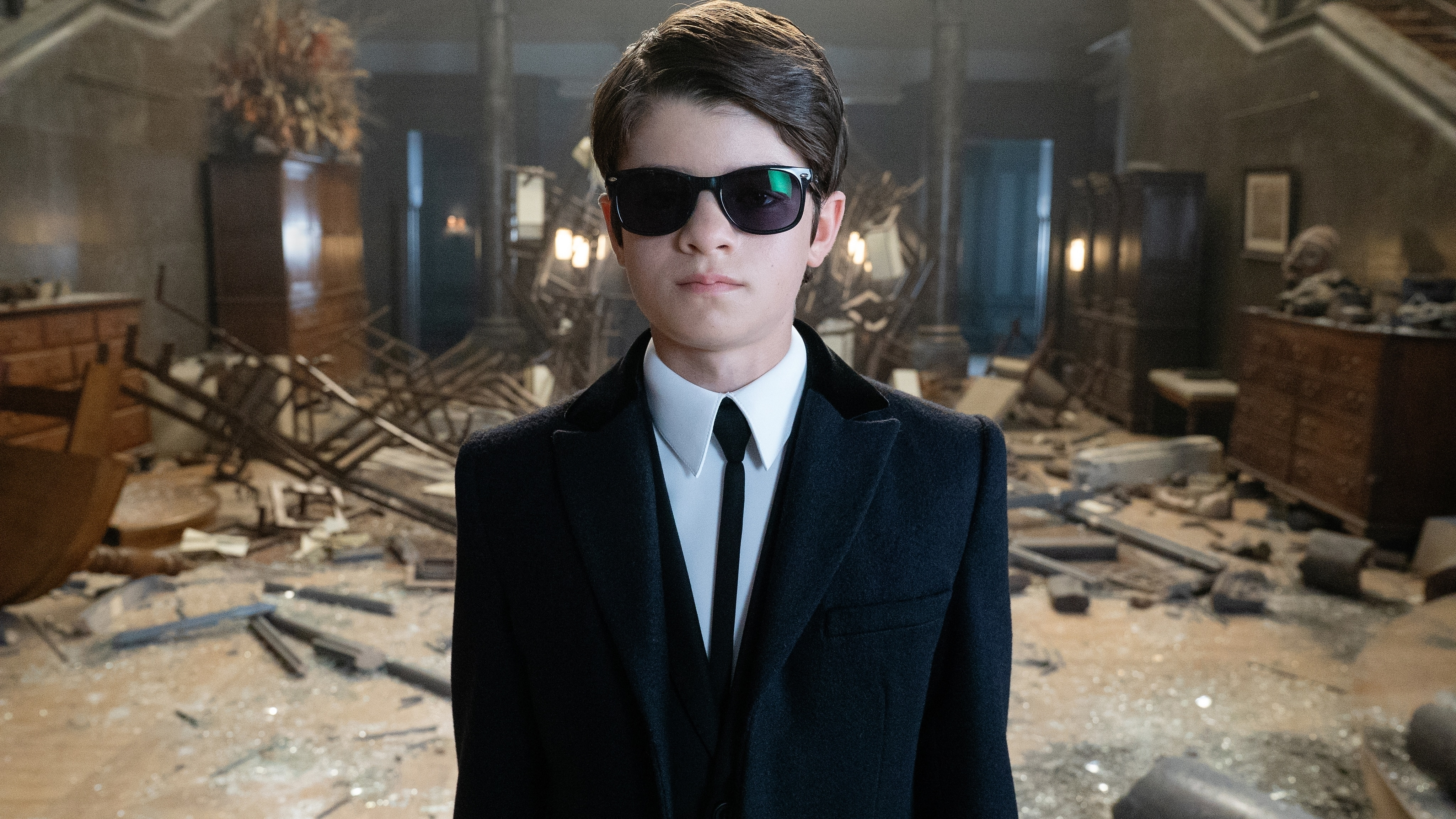 Ferdia Shaw is Artemis Fowl in ARTEMIS FOWL, directed by Kenneth Branagh. Photo by Nicola Dove.