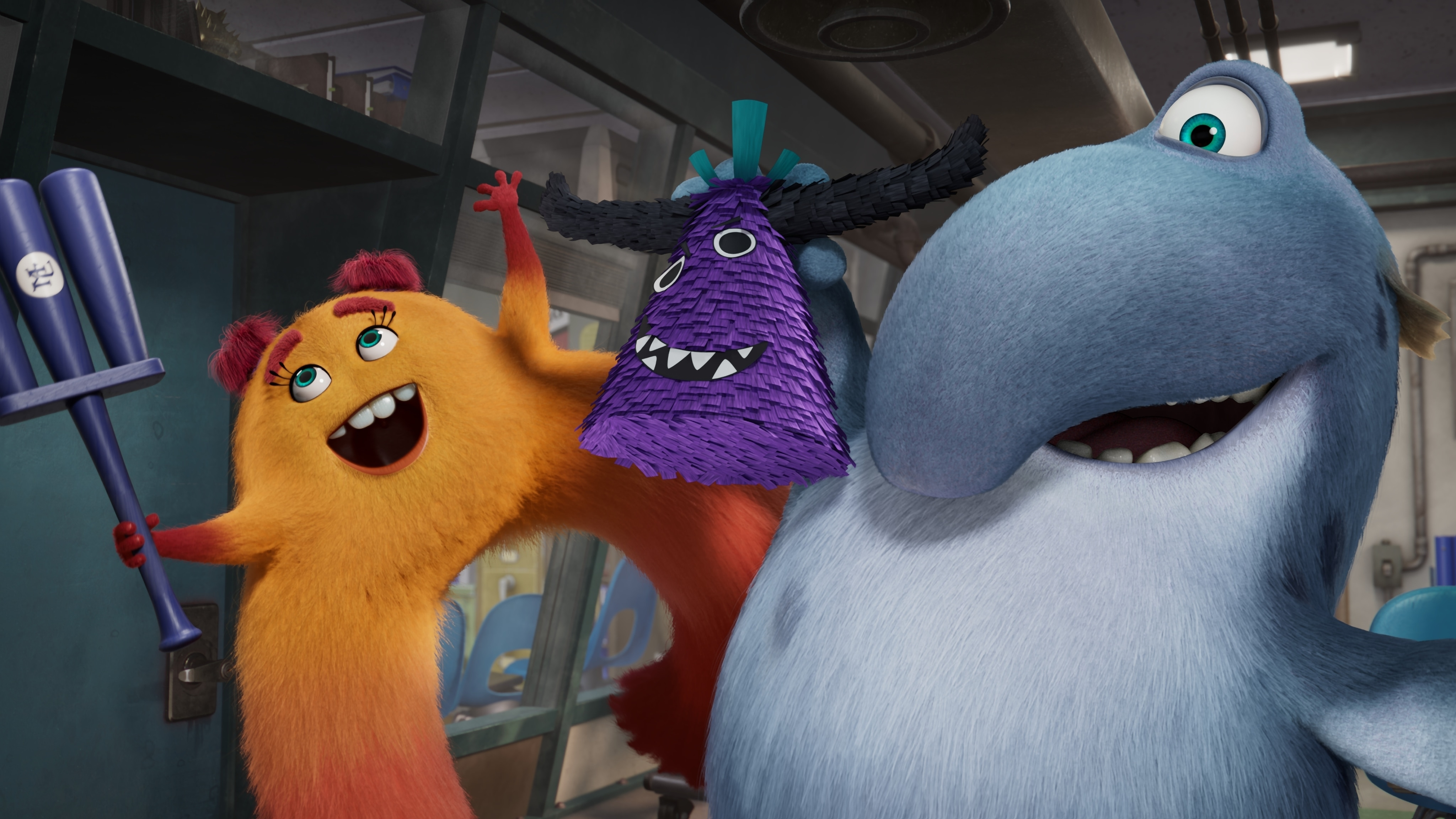 """MONSTERS AT WORK - """"Meet Mift"""" - When Tylor is initiated into MIFT during a bizarre ritual, he wants nothing more than to get away from his odd coworkers.  But when an emergency strikes Monsters, Inc., MIFT kicks into action and Tylor develops a hint of respect for the misfit team. (Disney) VAL, FRITZ"""