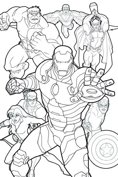 Vingadores Unidos: página de colorir 2