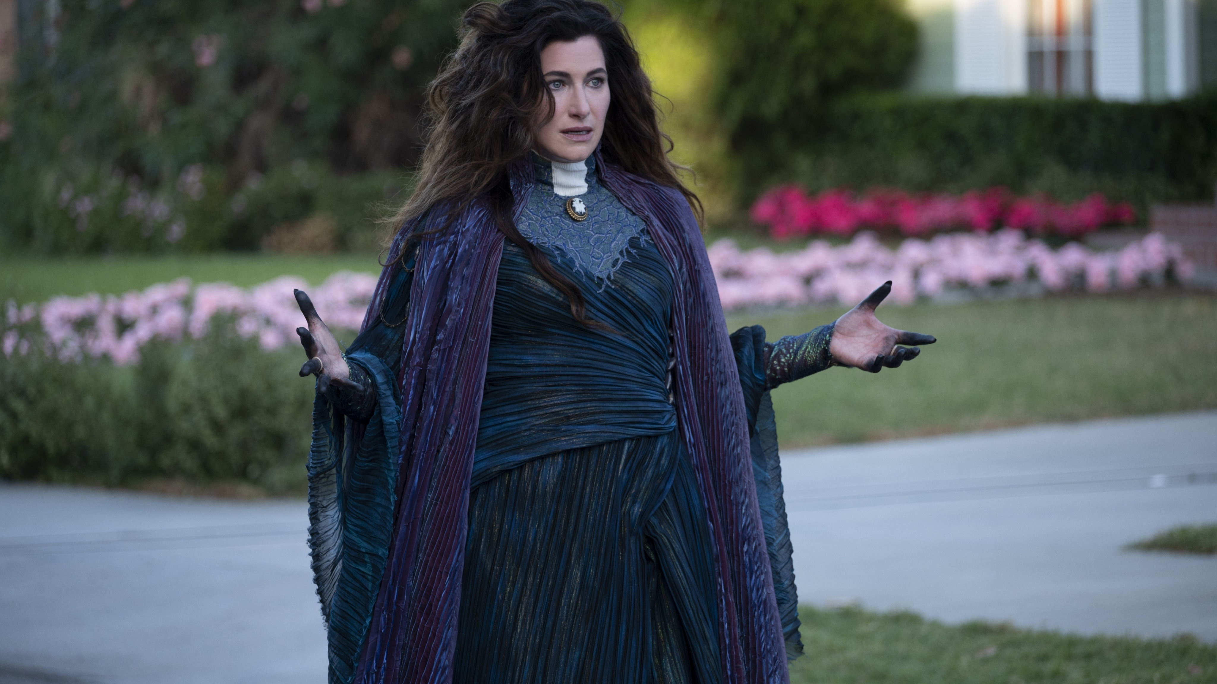 Kathryn Hahn as Agatha Harkness in Marvel Studios' WANDAVISION exclusively on Disney+. Photo by Suzanne Tenner. ©Marvel Studios 2021. All Rights Reserved.
