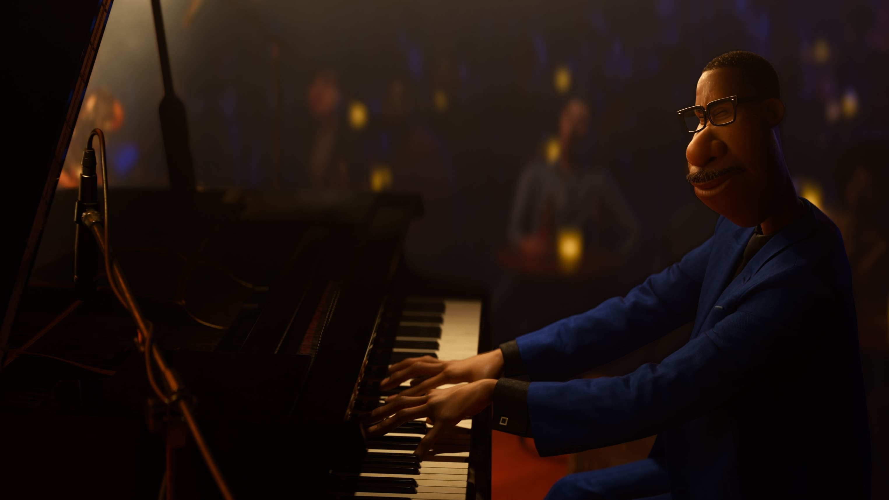 "In Disney and Pixar's ""Soul,"" Joe Gardner (voice of Jamie Foxx) is a middle-school band teacher whose true passion is playing jazz. When he gets lost in his music, he goes into ""the zone,"" an immersive state that causes the rest of the world to literally melt away. Globally renowned musician Jon Batiste will be writing original jazz music for the film, and Oscar®-winners Trent Reznor and Atticus Ross (""The Social Network""), from Nine Inch Nails, will compose an original score that will drift between the real and soul worlds. ""Soul"" will debut exclusively on Disney+ (where Disney+ is available) on December 25, 2020. © 2020 Disney/Pixar. All Rights Reserved."