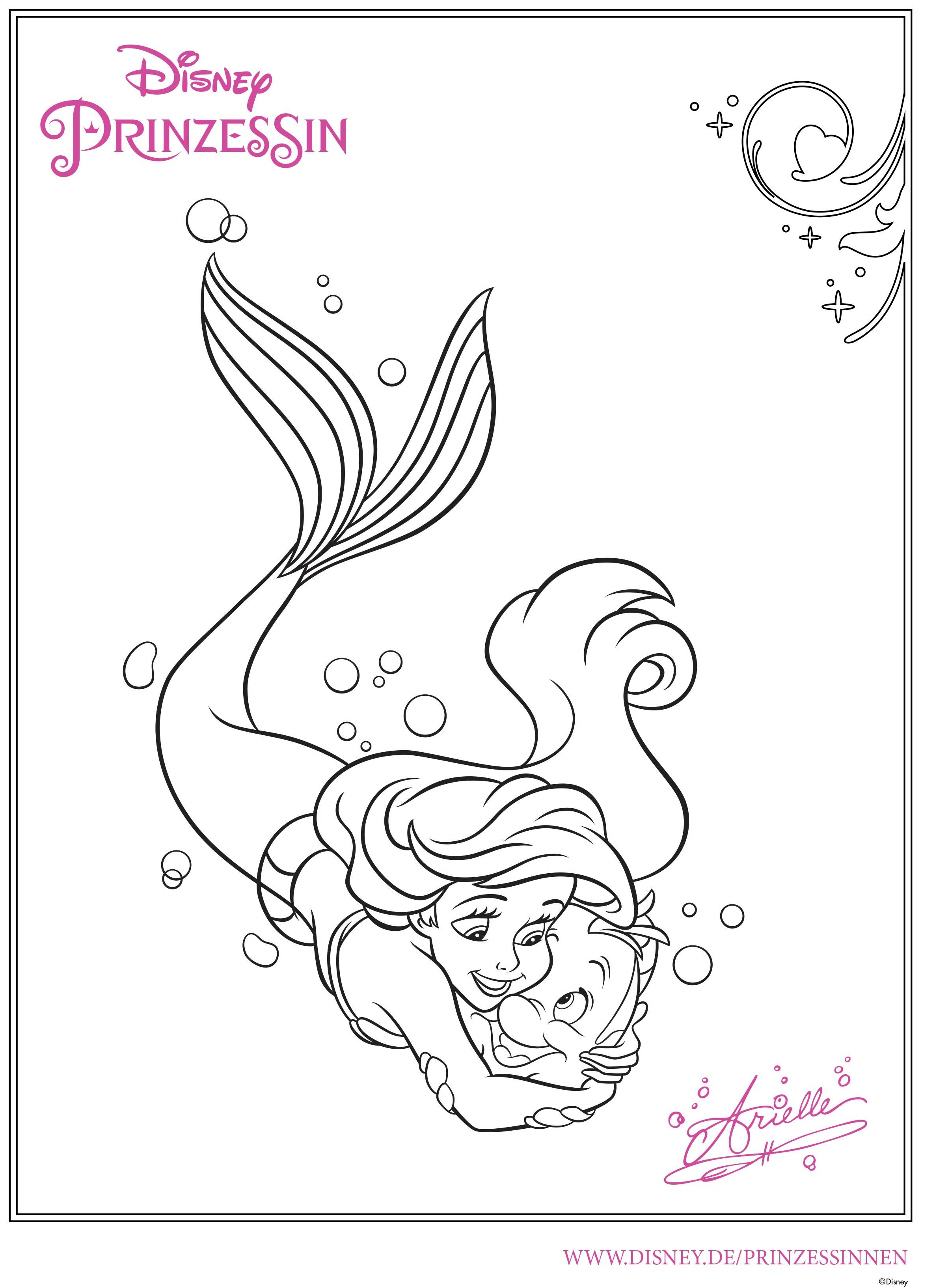 Ziemlich Malvorlagen Disney Prinzessin Ariel Bilder - Malvorlagen ...