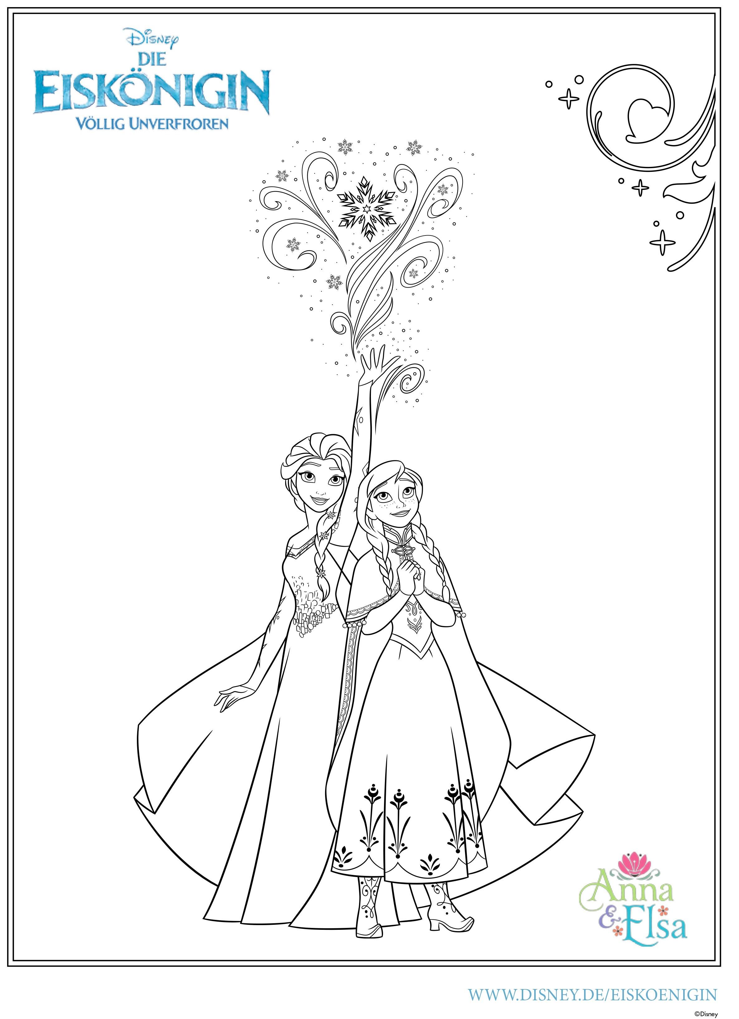 Frozen Ausmalbilder Elsa : Coloring Pages Disney Frozen Anna