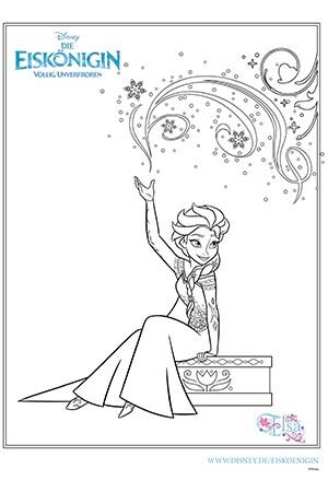 Ausmalbild - Elsa