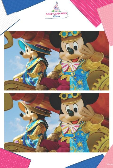 Actividad - 7 diferencias Mickey y Minnie