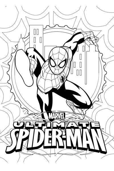 Homem-Aranha para colorir