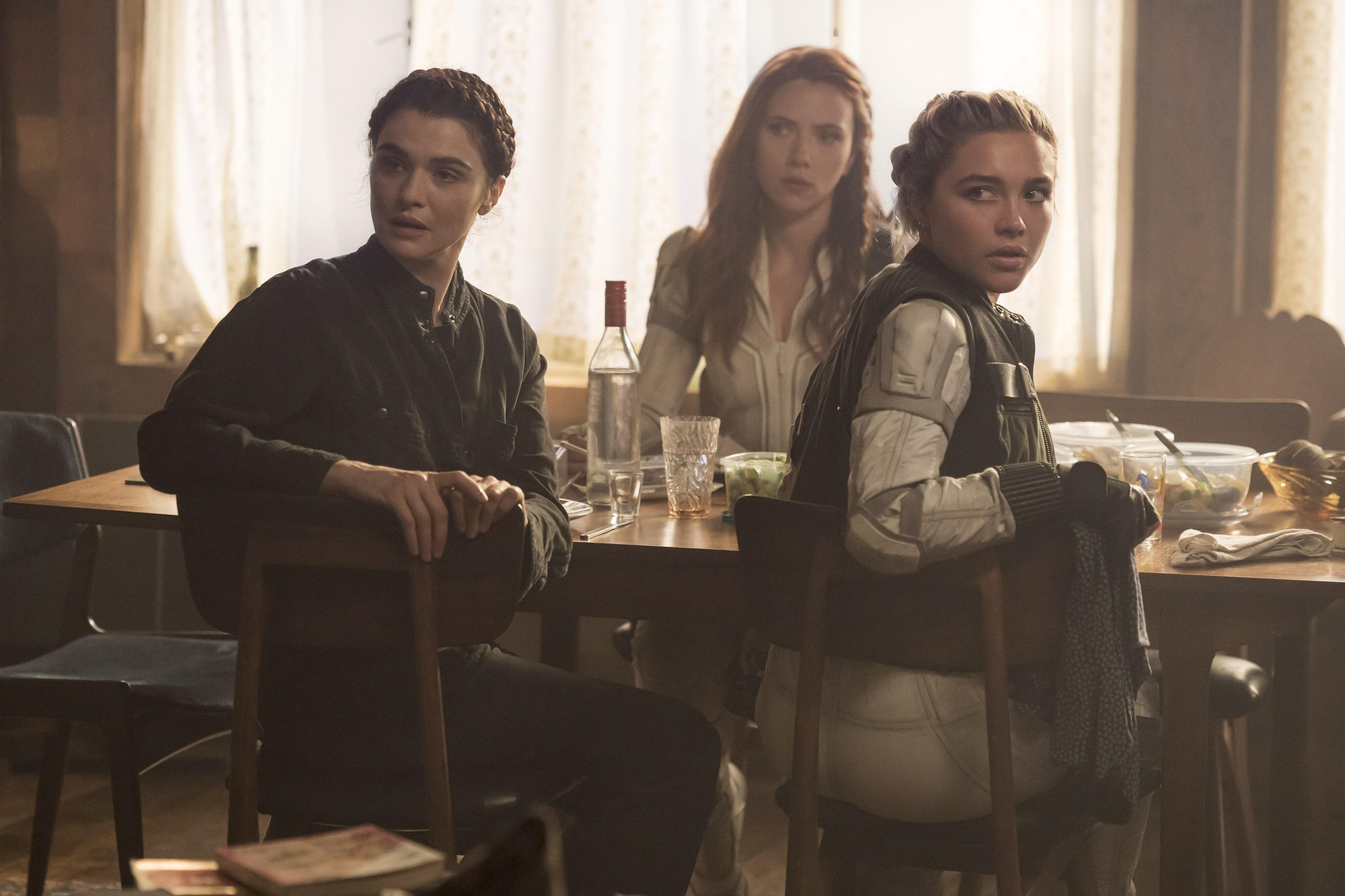Rachel Weisz, Scarlett Johansson and Florence Pugh Behind-the-Scenes of Black Widow