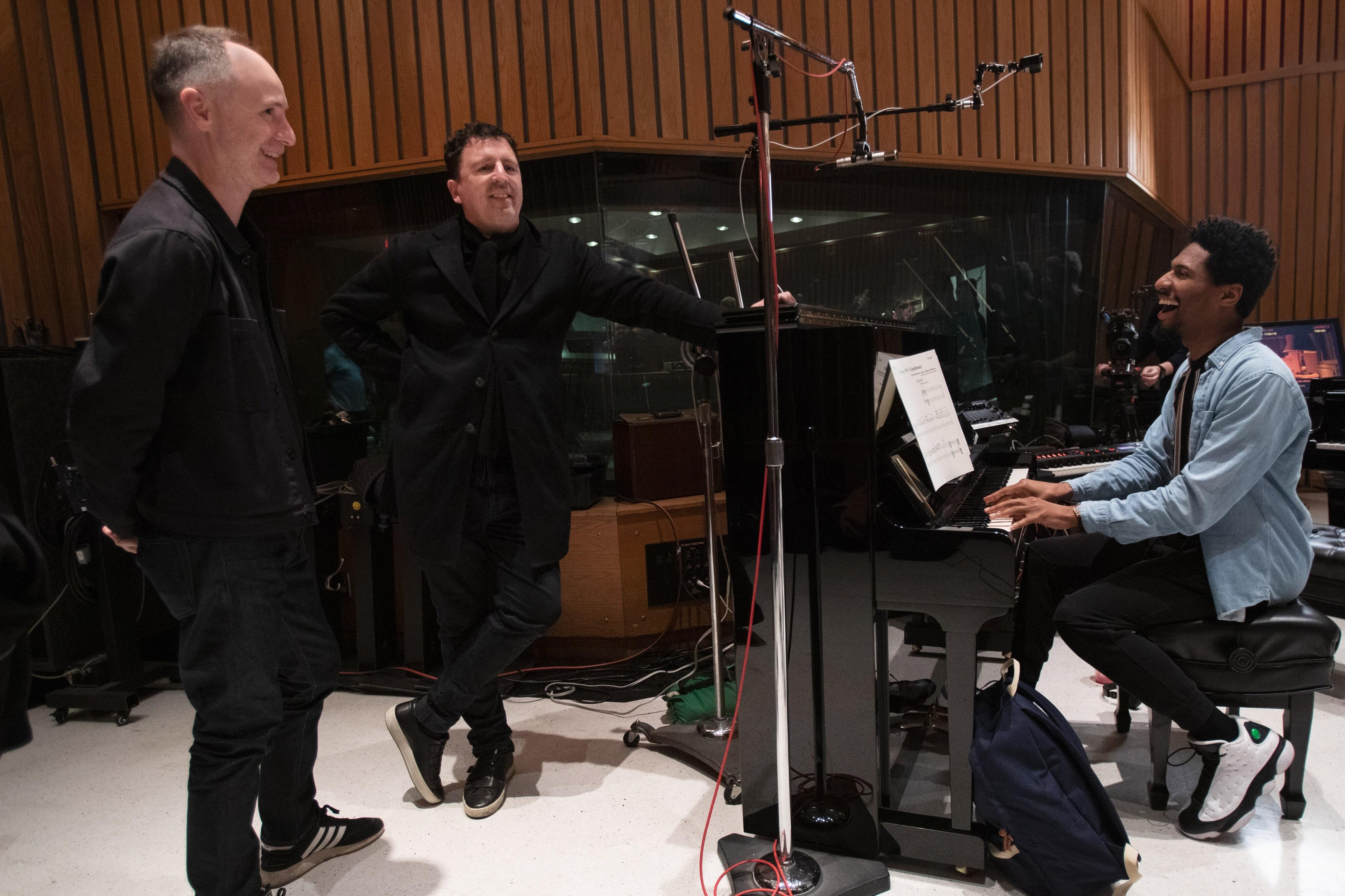 Jon Batiste with filmmakers