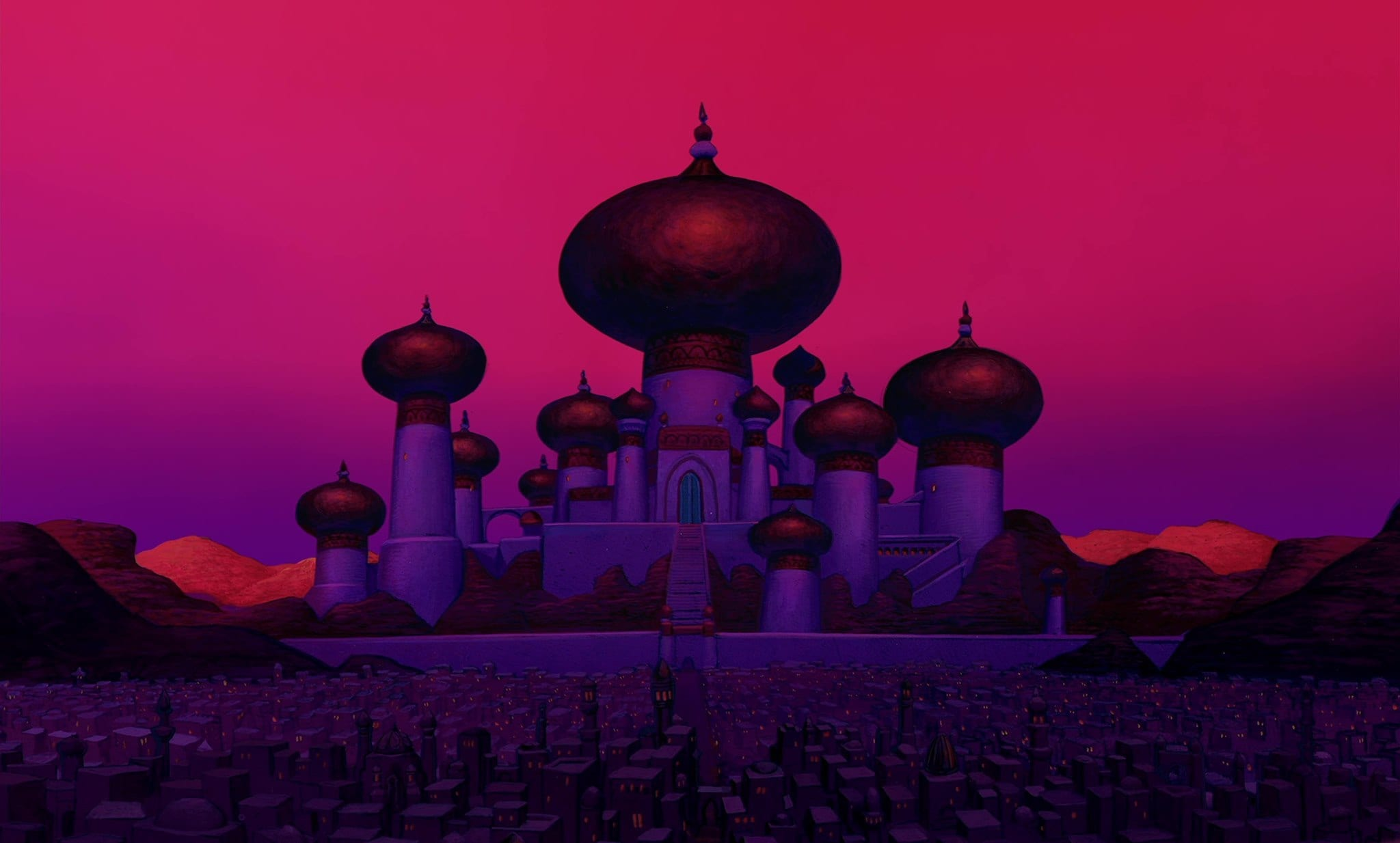 sultan's palace exterior from Aladdin