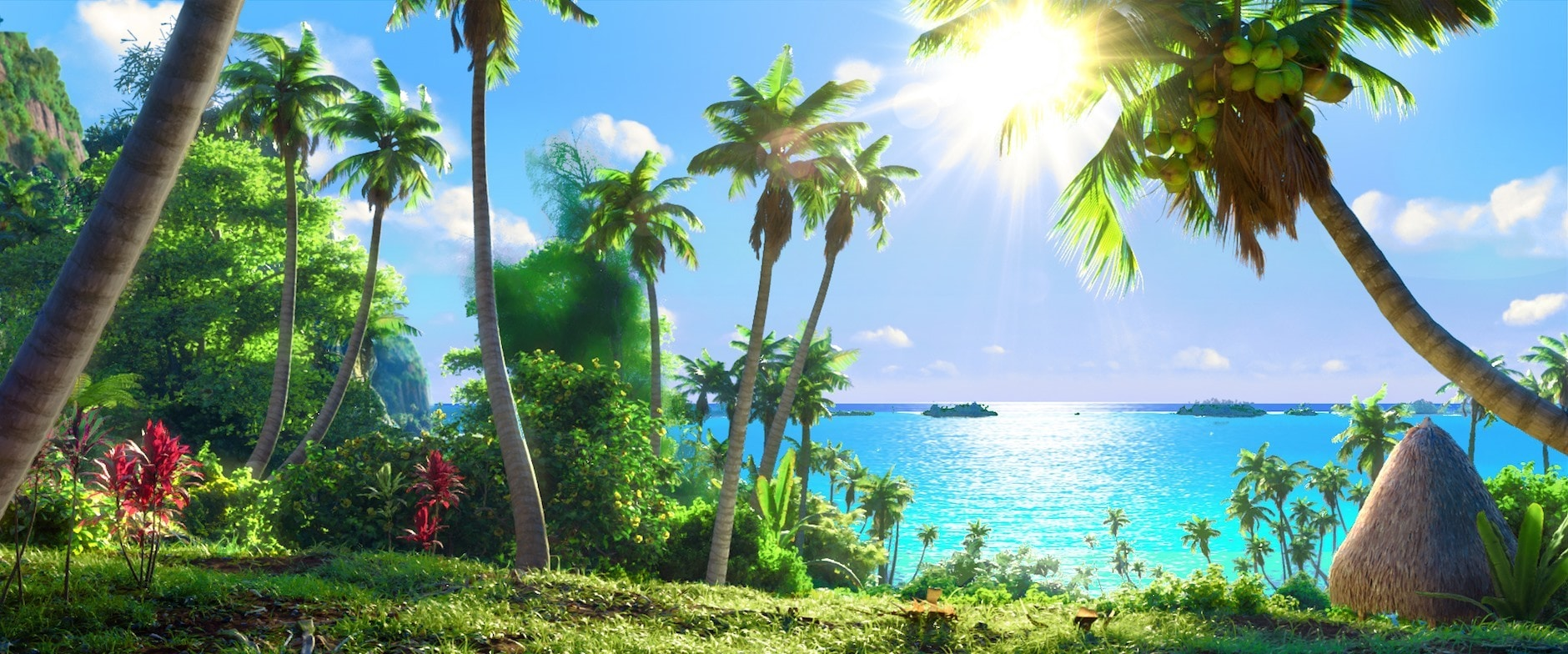 island of motonui from Moana