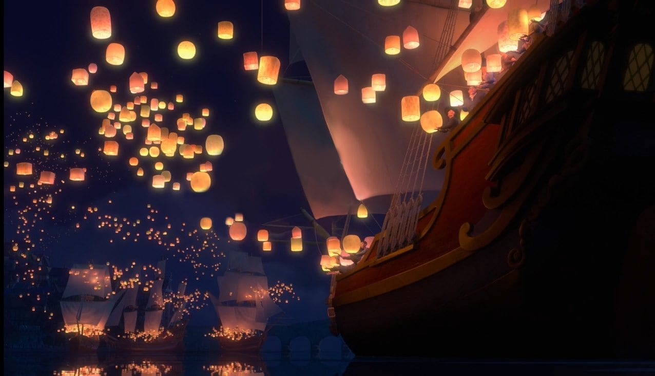 lanterns from tangled