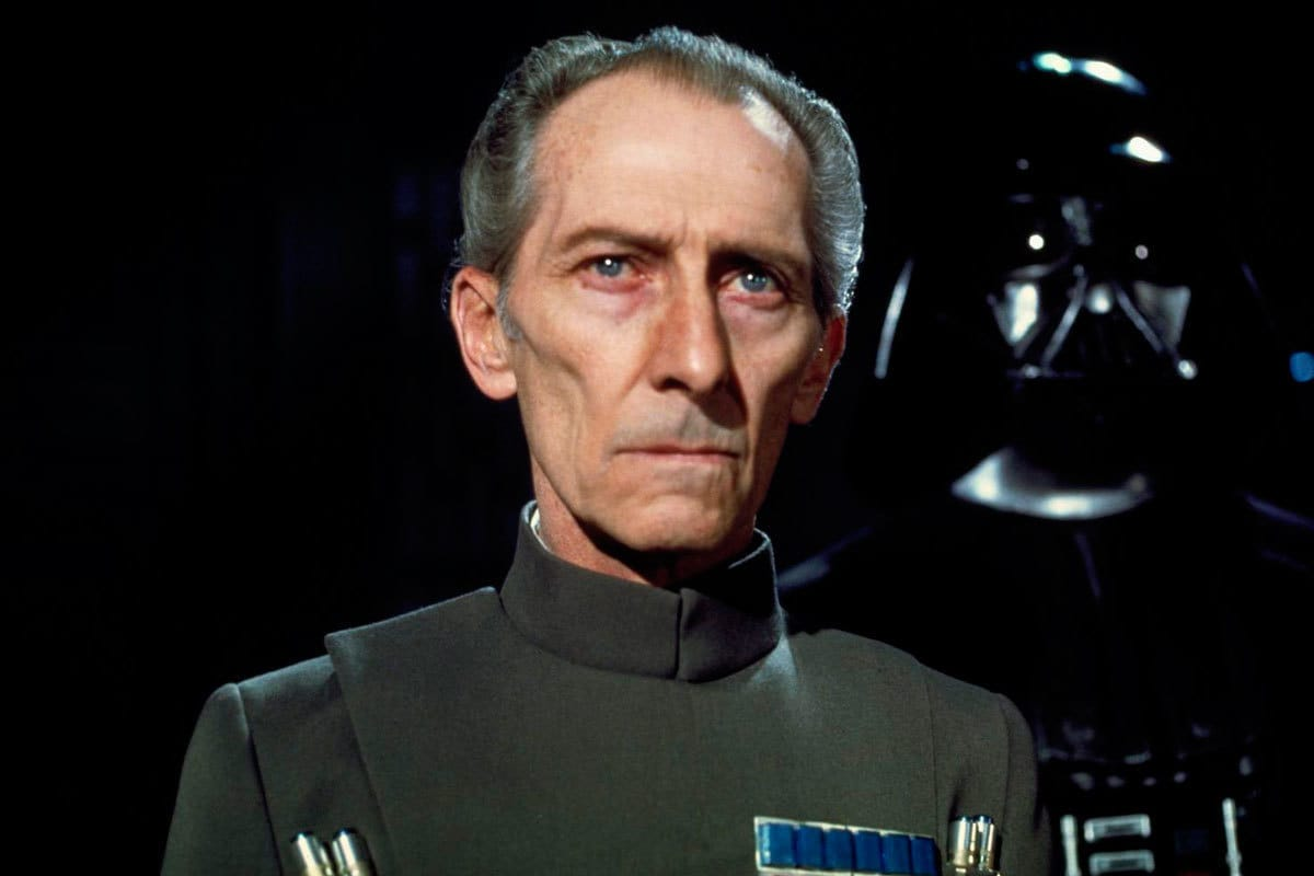 Grand Moff Tarkin and Darth Vader aboard the Death Star