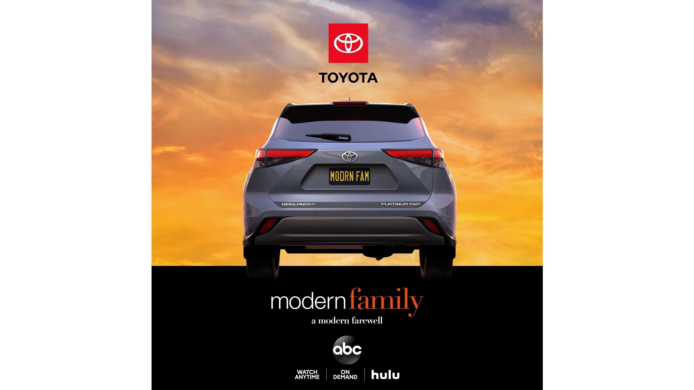 "Toyota Celebrates ""Modern Family"" Series Finale with a Tribute Honoring the Iconic Sitcom, and Its Long-Standing Relationship with the Series"