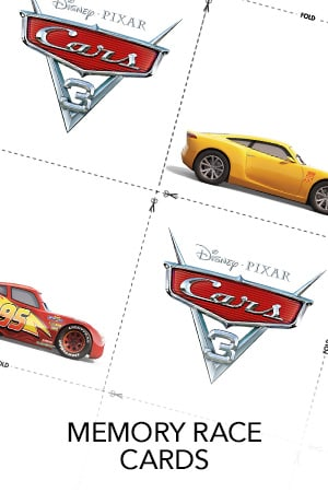 Cars 3 - Memory Race Cards