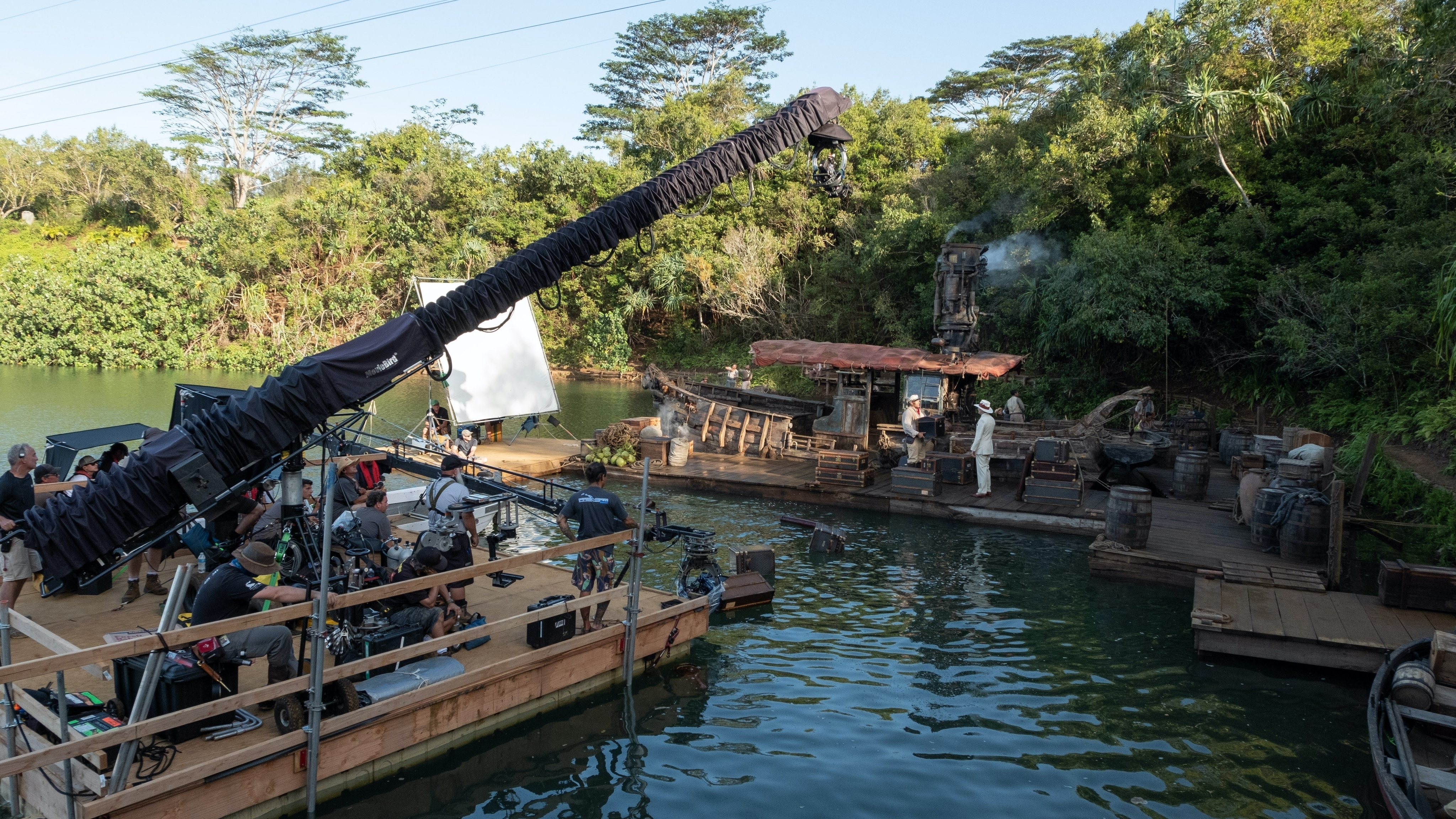 Behind the scenes of Disney's live-action JUNGLE CRUISE. Photo by Frank Masi. © 2021 Disney Enterprises, Inc.  All Rights Reserved.