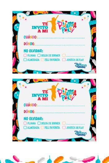 Invitaciones Pijama Party 3