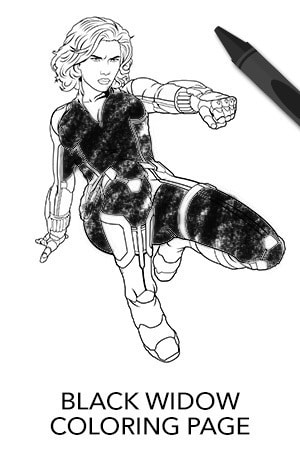 Avengers Black Widow Coloring Page | Disney Movies