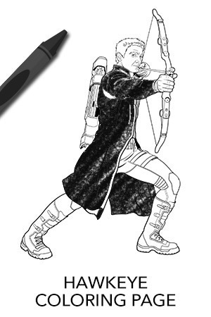 Avengers Hawkeye Coloring Page Disney Movies