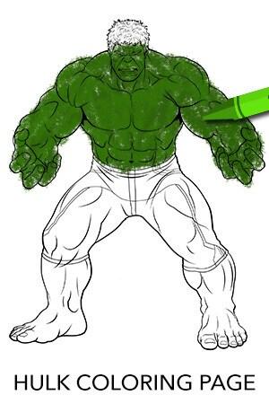 Avengers Hulk Coloring Page Disney Movies