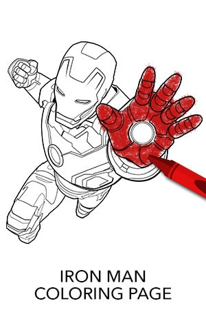 avengers iron man coloring page